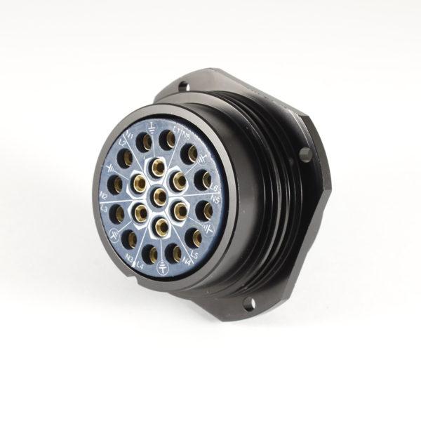 Showsafe Socapex Panel Female 19 Way Socket Solder 25A UL No Gland