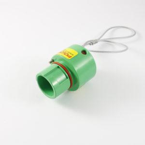 Powersafe Env. Locking Cap Line Source GRN Earth IP67