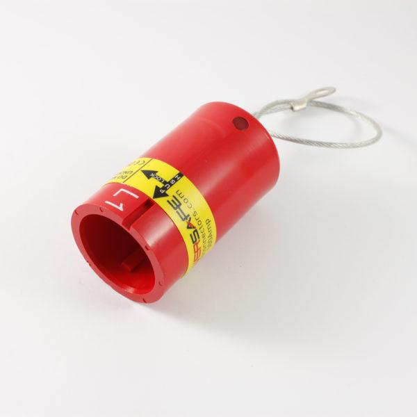 Powersafe Env. Locking Cap Panel Drain RED Line 1 IP67