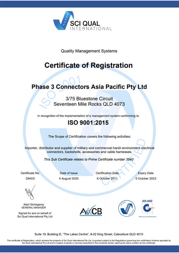 SCI QUAL 2020 Certification